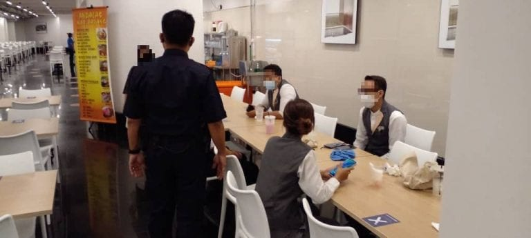 Five customers fined for dining in at restaurant in KL