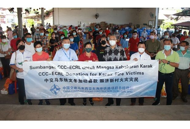 ECRL main contractor offers financial relief to Karak fire victims